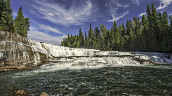 Dawson Falls in Wells Gray Provincial Park near Clearwater