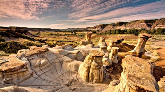 Drumheller Hoodoos at sunrise
