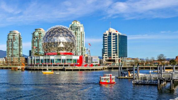 False Creek and Science World in downtown Vancouver