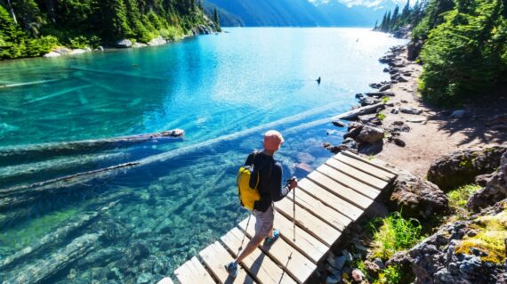 Hiking at Garibaldi Lake near Whistler