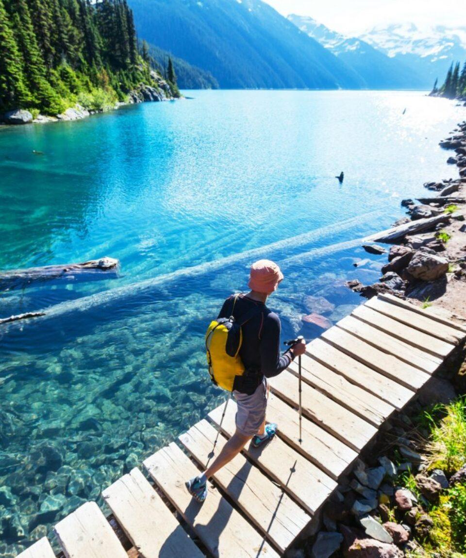 Hiking at Garibaldi Lake near Whistler
