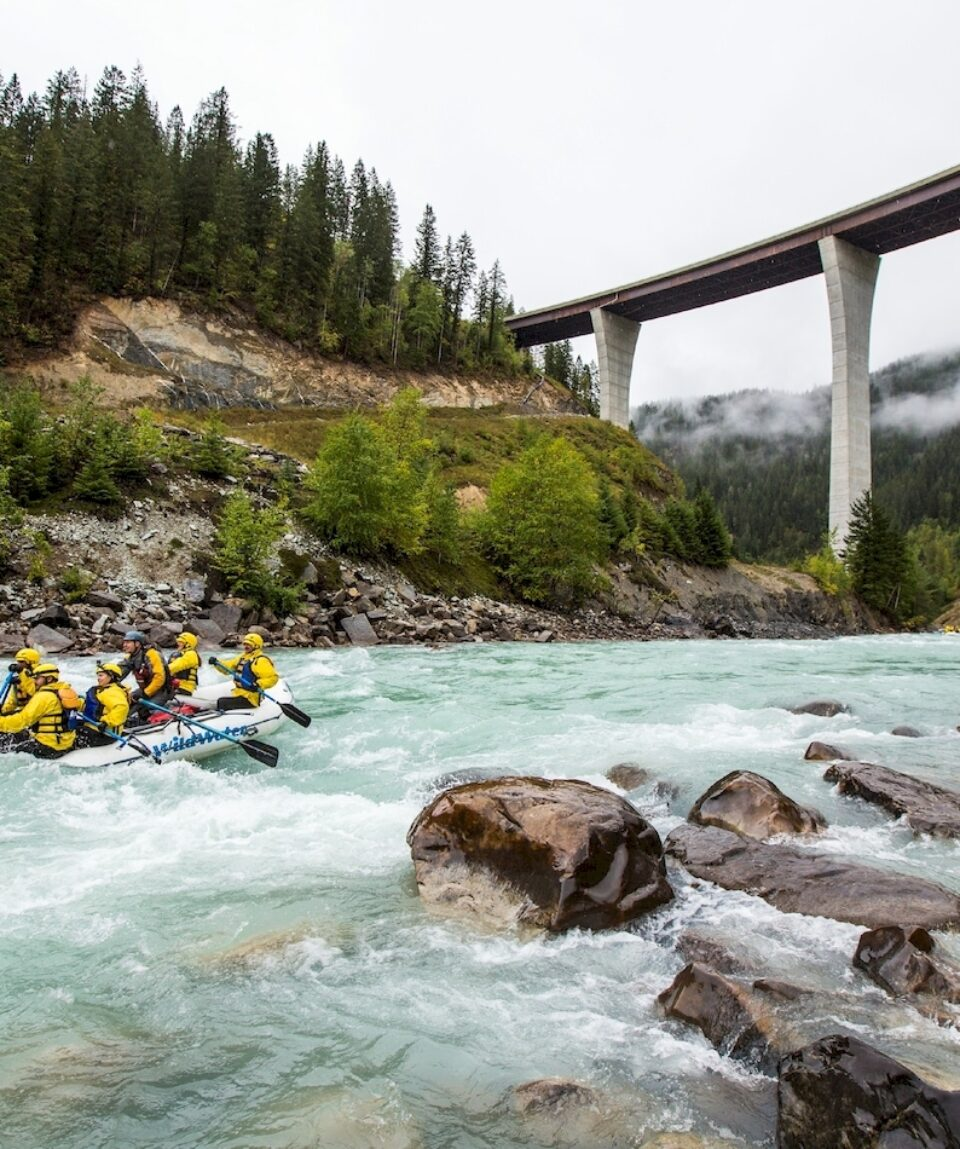 Rafting in Yoho National Park.