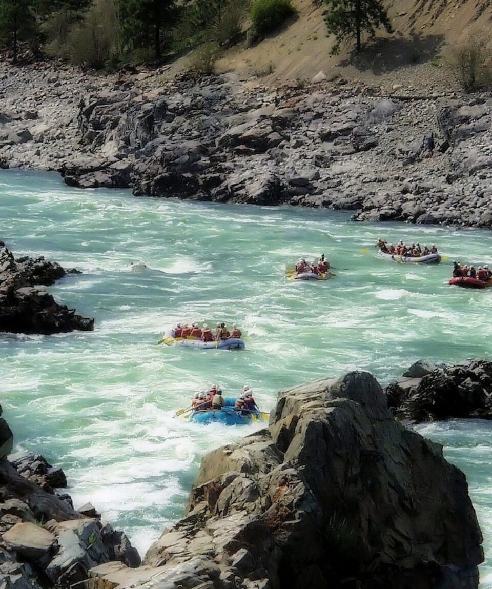 Rafting in the Fraser River