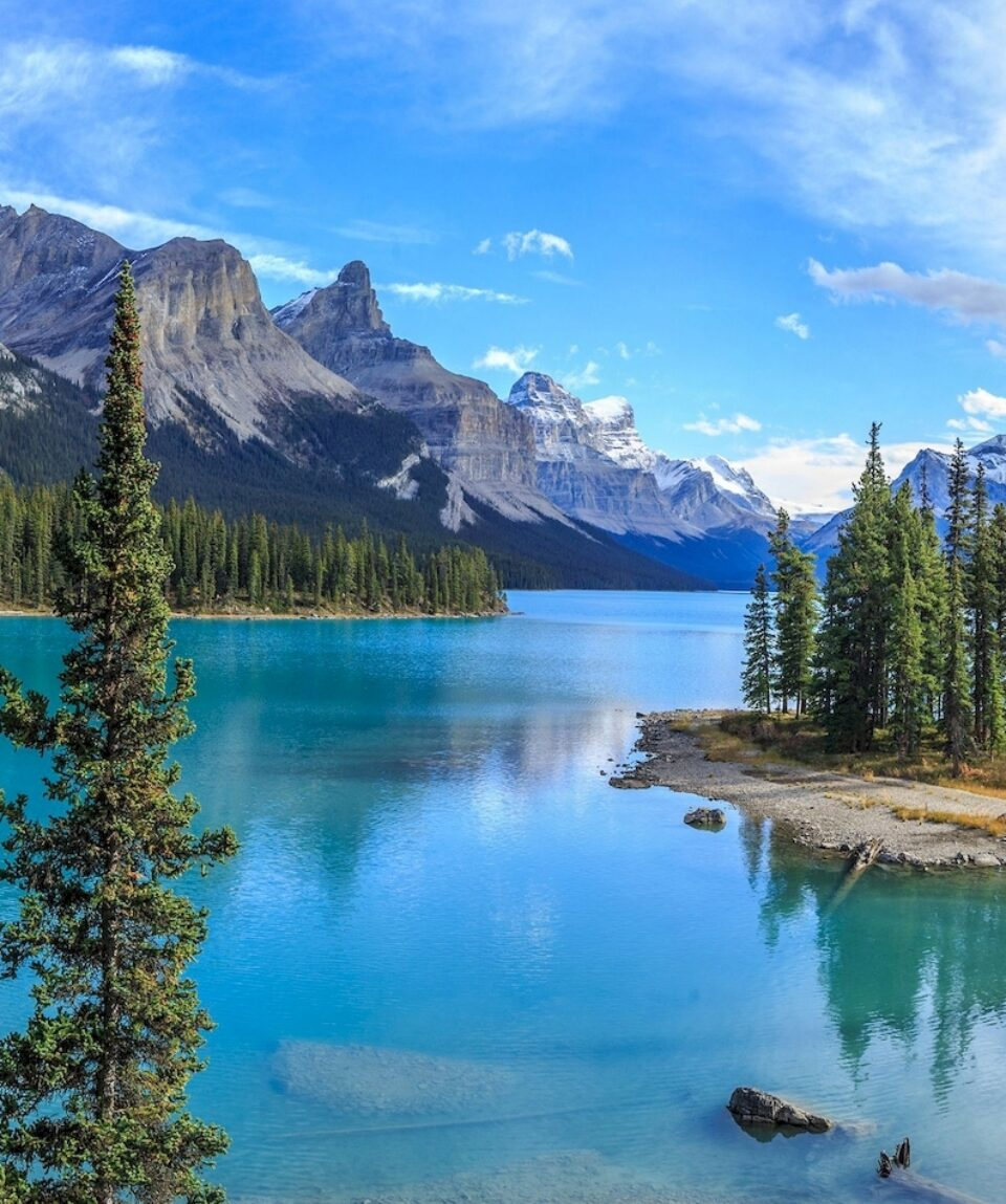 Mountains And Ocean En Route Travel Canada