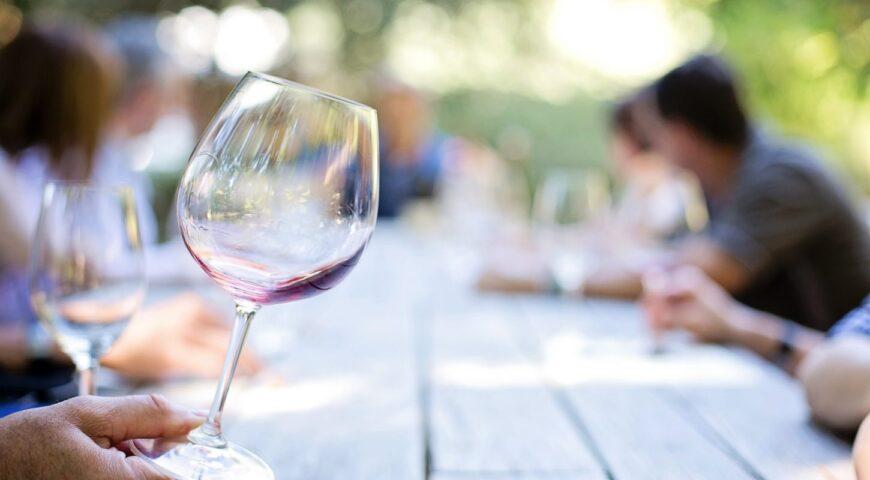 Wine glass in the Okanagan