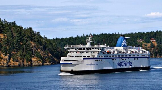 BC Ferry passes the Gulf Islands from Tsawwassen to Victoria