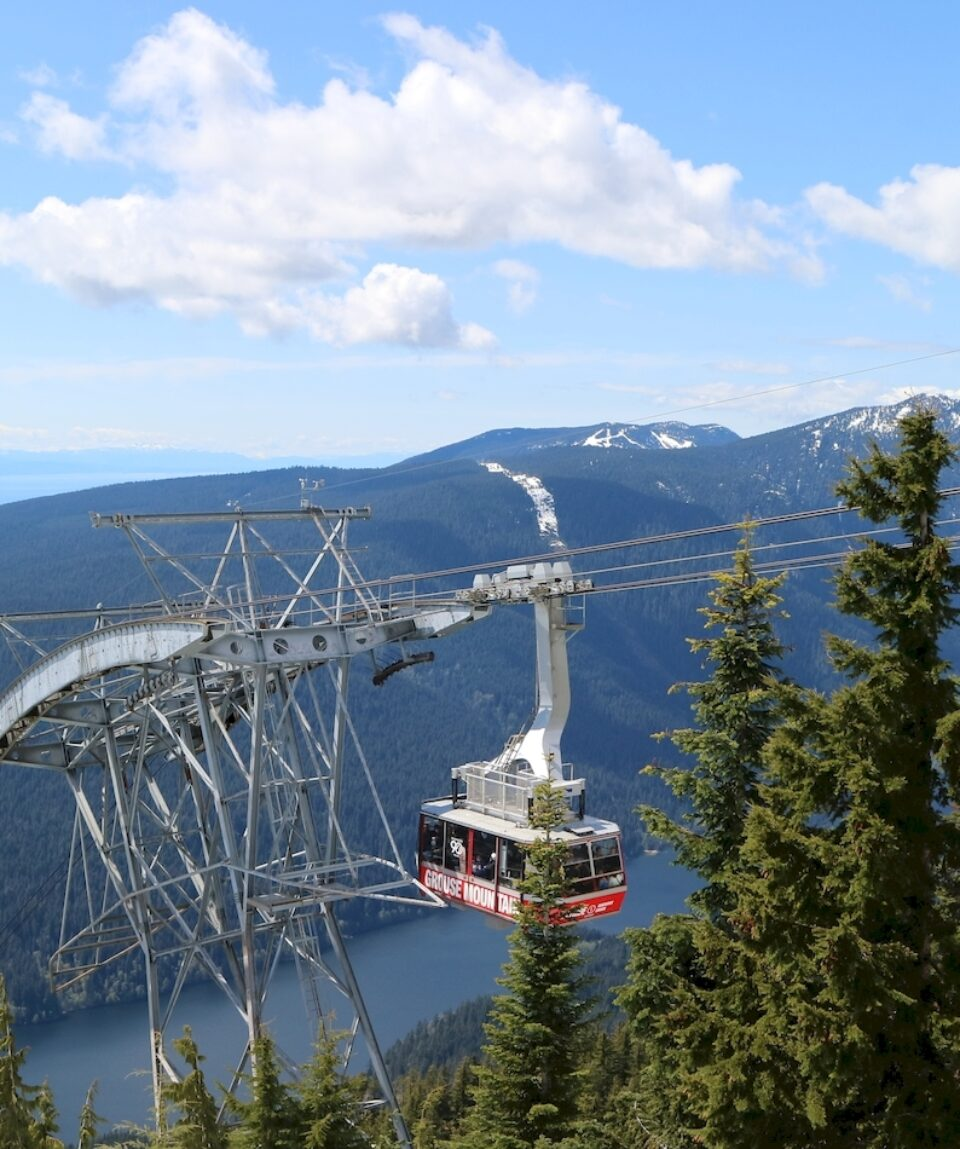 Heading up the Grouse Mountain Skyride