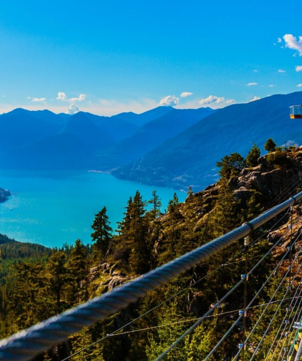 The Sea to Sky Gondola ride, the Summit Viewing Deck and Sky Pilot Suspension Bridge are exhilirating experiences in the shadow
